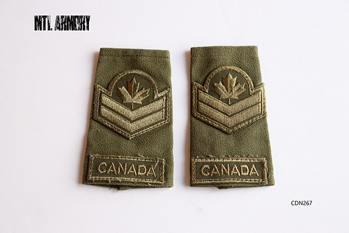 CANADIAN FORCES OD MASTER CORPORAL EPAULETTES