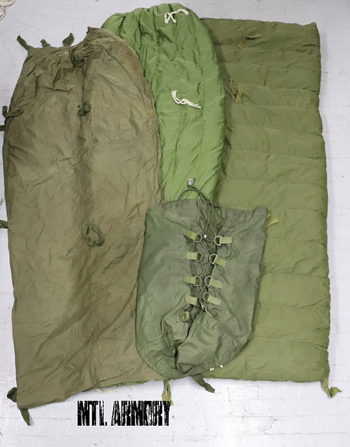 CANADIAN FORCES COLD WEATHER 4 PCS SLEEPING BAG SET