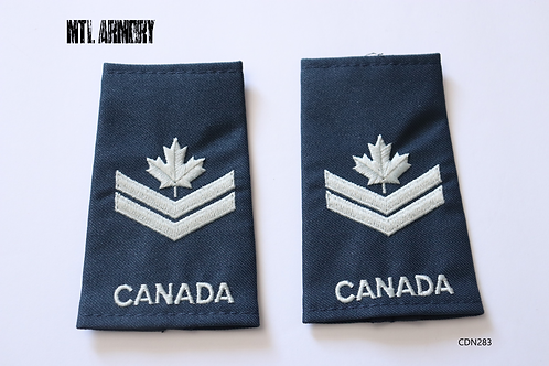 ROYAL CANADIAN AIR FORCE BLUE & PEARL MASTER CORPORAL EPAULETTES RCAF SLIP ONS