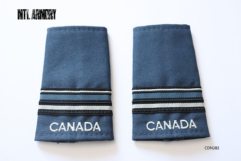 ROYAL CANADIAN AIR FORCE BLUE & PEARL LIEUTENANT EPAULETTES RCAF SLIP ONS