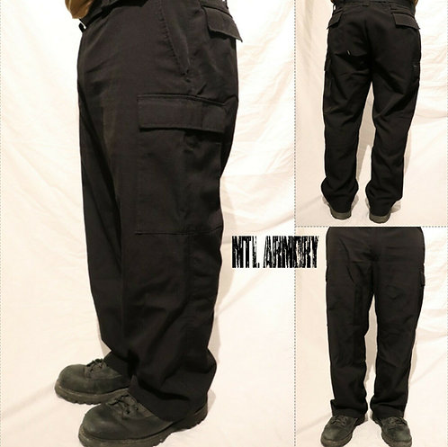 CANADIAN NAVY ISSUED BLACK NOMEX COMBAT PANTS