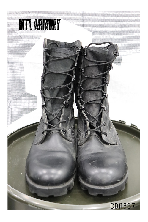 CANADIAN ISSUED BLACK JUNGLE BOOTS SIZE 8W
