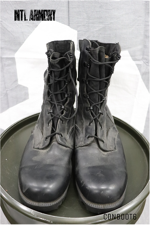 CANADIAN ISSUED BLACK JUNGLE BOOTS SIZE 10 W