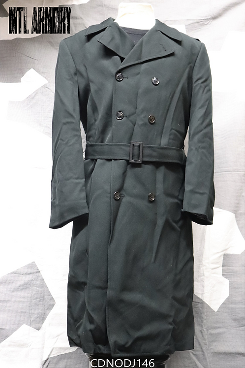 CANADIAN FORCES WOOL DARK GREEN LONG COAT SIZE 7344
