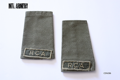 """CANADIAN FORCES OD """"RCA"""" EPAULETTES SLIP ONS CANADA ARMY"""