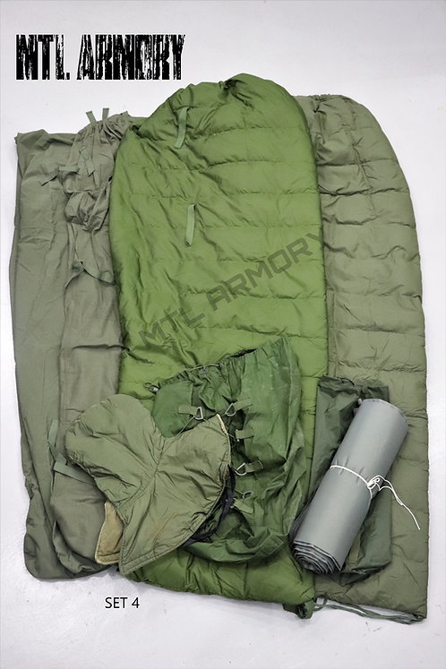 CANADIAN FORCES 7 PCS COLD WEATHER SLEEPING BAG SYSTEM