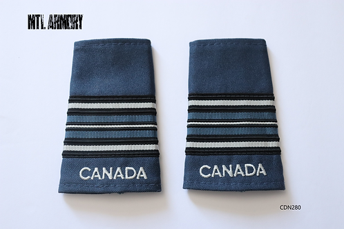 ROYAL CANADIAN AIR FORCE BLUE & PEARL MAJOR EPAULETTES RCAF SLIP ONS