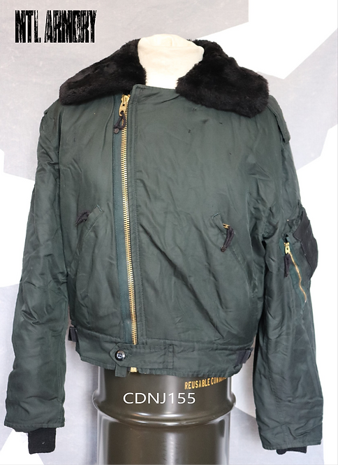RCAF ISSUED DARK GREEN PILOTS JACKET SIZE 7040