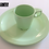 Thumbnail: CANADIAN ISSUED LIGHT GREEN MELMAC PLATE AND CUP SET