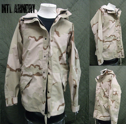 US ARMY TRI COLOR DESERT CAMO GORE-TEX JACKET SIZE LARGE-LONG