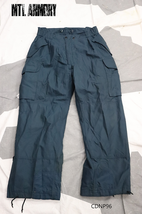 ROYAL CANADIAN AIR FORCE BLUE GORETEX COLD WEATHER FLYER'S PANTS SIZE 7338