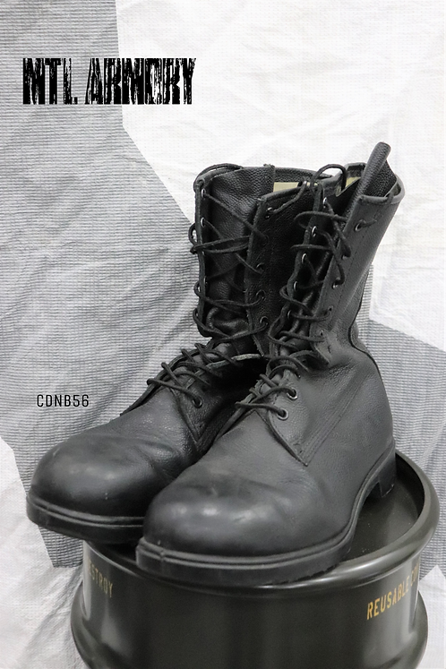 CANADIAN FORCES BLACK MK III COMBAT BOOTS SIZE 9 1/2