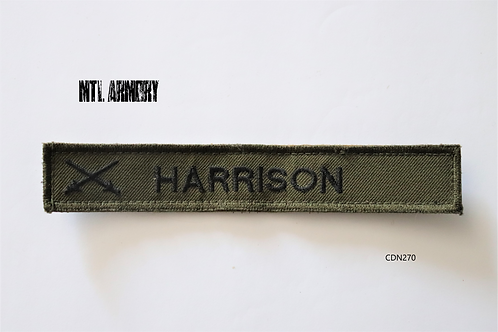 "CAF OD NAME TAG ""HARRISON"""