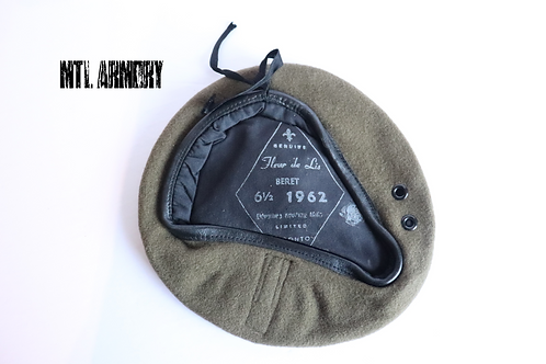 CANADIAN FORCES OD BERET 1962 SIZE 6 1/2
