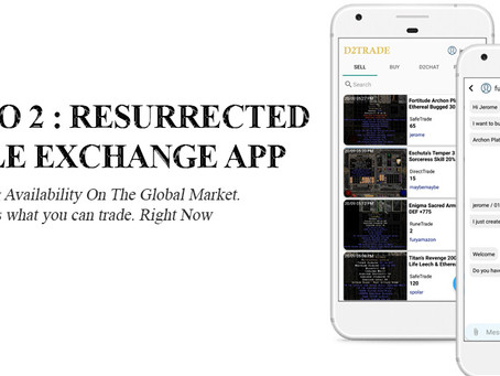 Diablo 2 : Resurrected Mobile Global Exchange App has launched by Derakay today!
