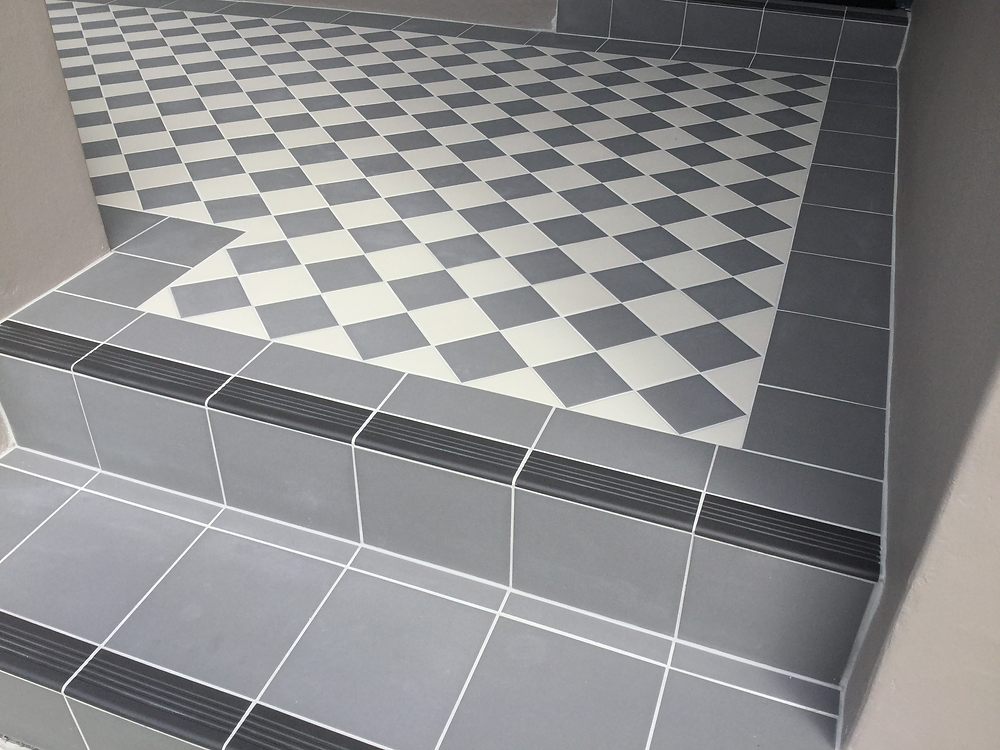 Three layers of tiles were replaced by imported tiles