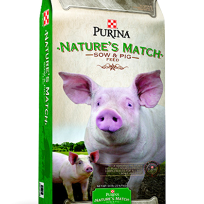 Purina Nature's Match Sow & Pig 50#