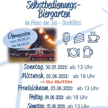 Selbstbedienungs-Biergarten vom 30.05 bis 06.06.2021