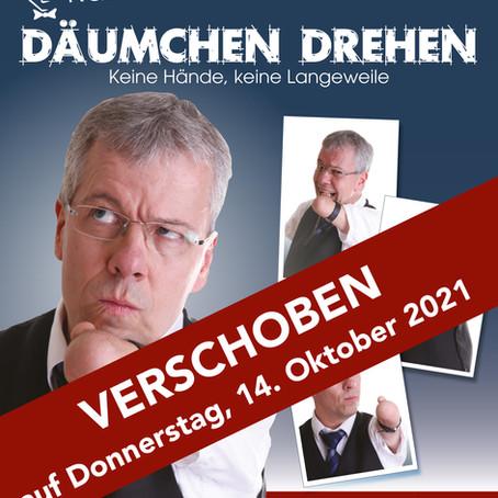 Kabarett-Abend mit Rainer Schmidt erneut verschoben