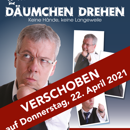 Kabarett-Abend mit Rainer Schmidt verschoben