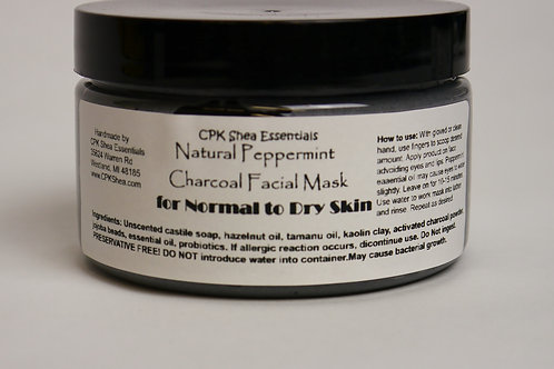 Peppermint Charcoal Facial Mask 4.0 oz