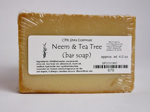 Neem& Tea Tree Bar Soap 4.0 oz