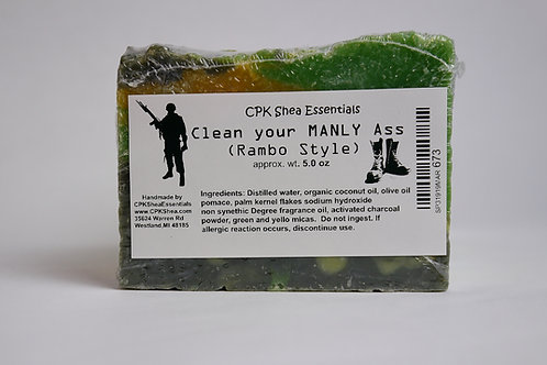 Clean Your Manly Ass, Rambo Style Soap 5.0 oz