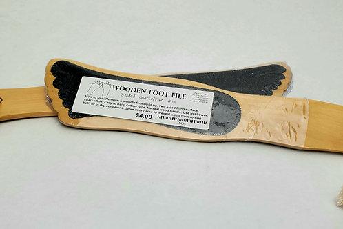 Wooden Foot File (2 sided coarse/fine)