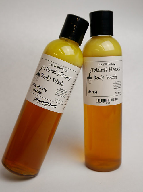 Honey Body Wash for Men and Women  10.5oz