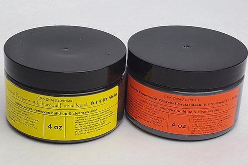 Peppermint Charcoal Facial Mask for Normal/Dry and Oily Skin 4.0 oz