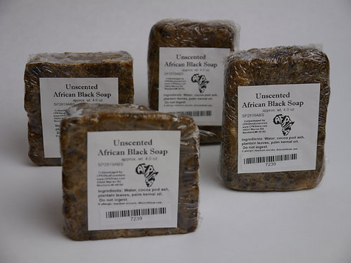 African Black Soap 4.2 oz (unscented)