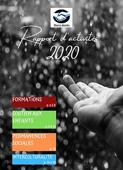 Rapport d'activités 2020 - page de garde