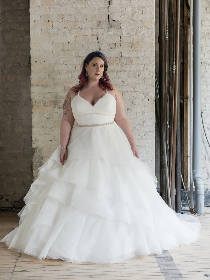 Plus size wedding gowns.