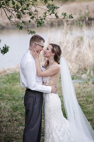 Creekside outdoor wedding styled shoot.
