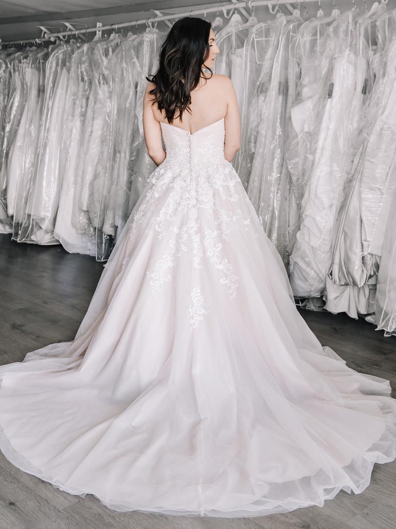 Blush ball gown.