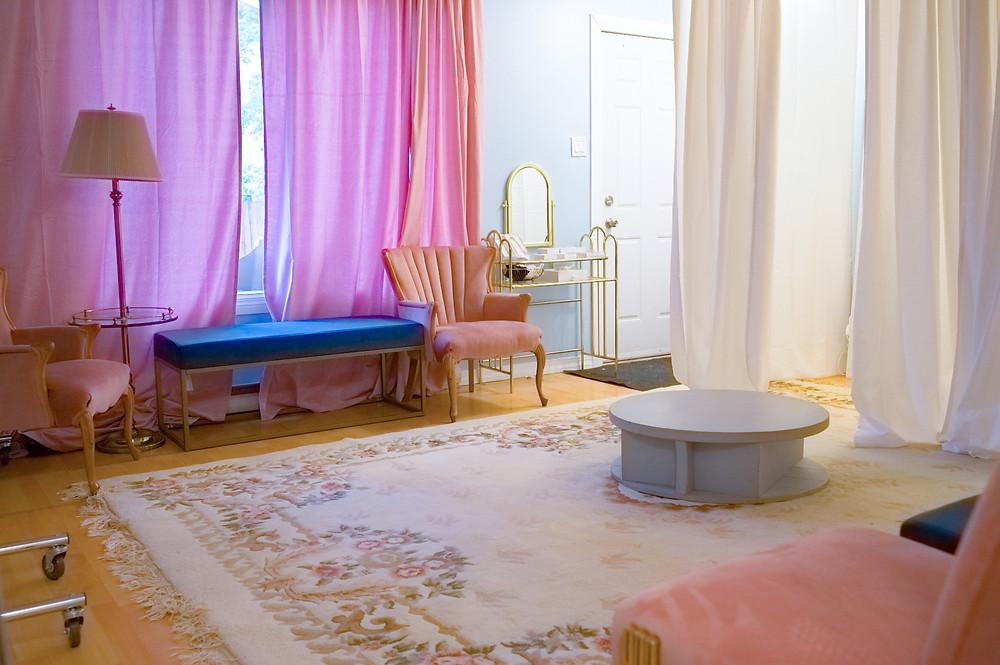 Our semi private bridal studio.