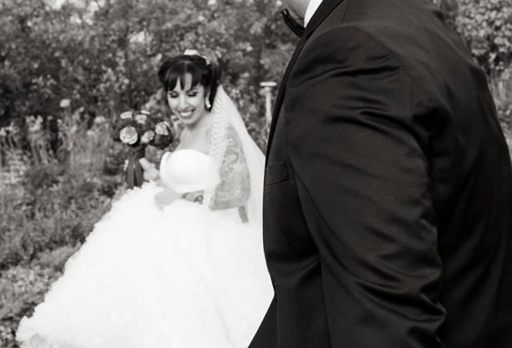 Wedding day smiles- open heart and full of love.