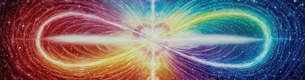le 8 de l'infini avec le coeur au centre