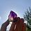 Thumbnail: Amethyst + Smokey Elestial Quartz point