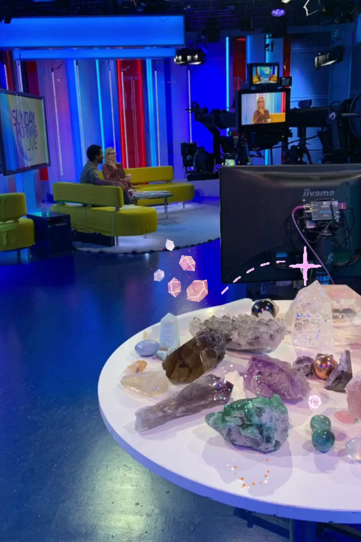 Appearance on the ONE show, BB1 to talk about crystal healing
