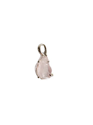 Raw Morganite Pendant.
