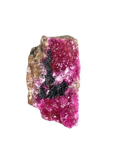 Cobaltoan Calcite with Malachite