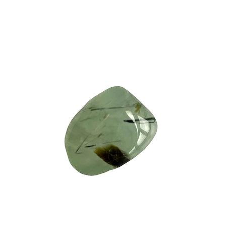 Green Epidote in Prehnite Tumble stone