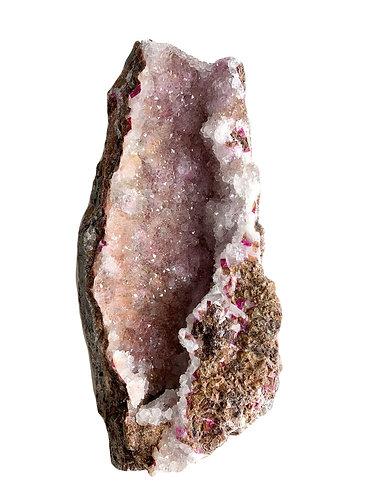 Raw Cobaltoan Calcite with quartz