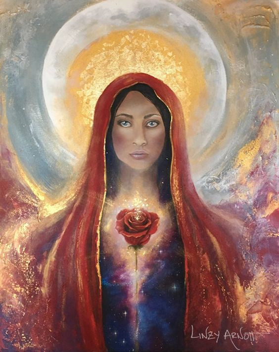 The goddess within original painting.