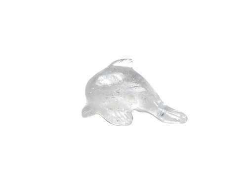 Clear Quartz Carved Dolphin