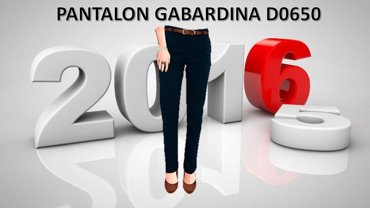 PANTALON GABARDINA MOD. D0650