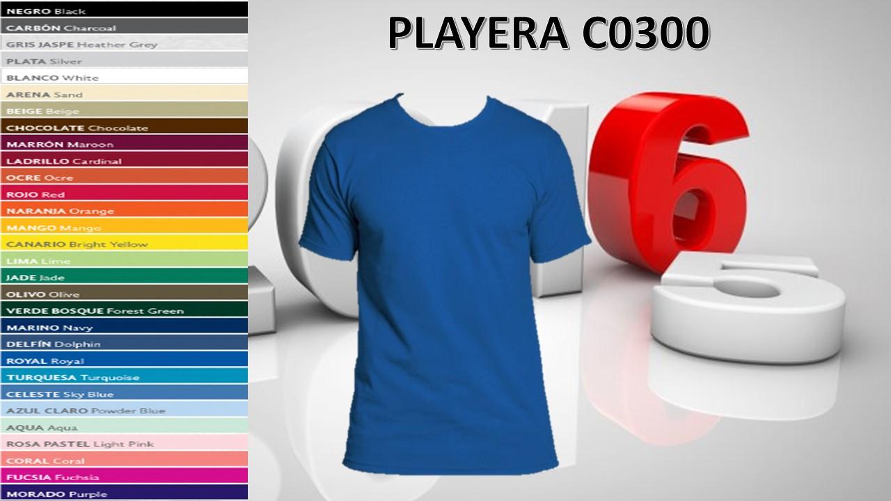 PLAYERA CABALLERO MOD. C0300