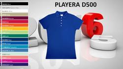 PLAYERA POLO DAMA MOD. D500