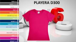 PLAYERA DAMA MOD. D300